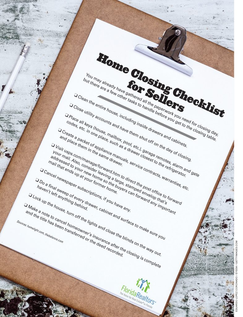 Home Closing Checklist For Sellers - Realty Advisors Miami LLC